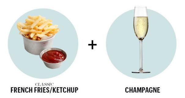 wijn en friet